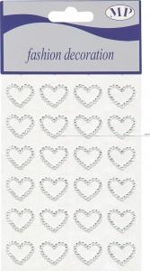 cuori strass adesivi in confezione da 24 pezzi