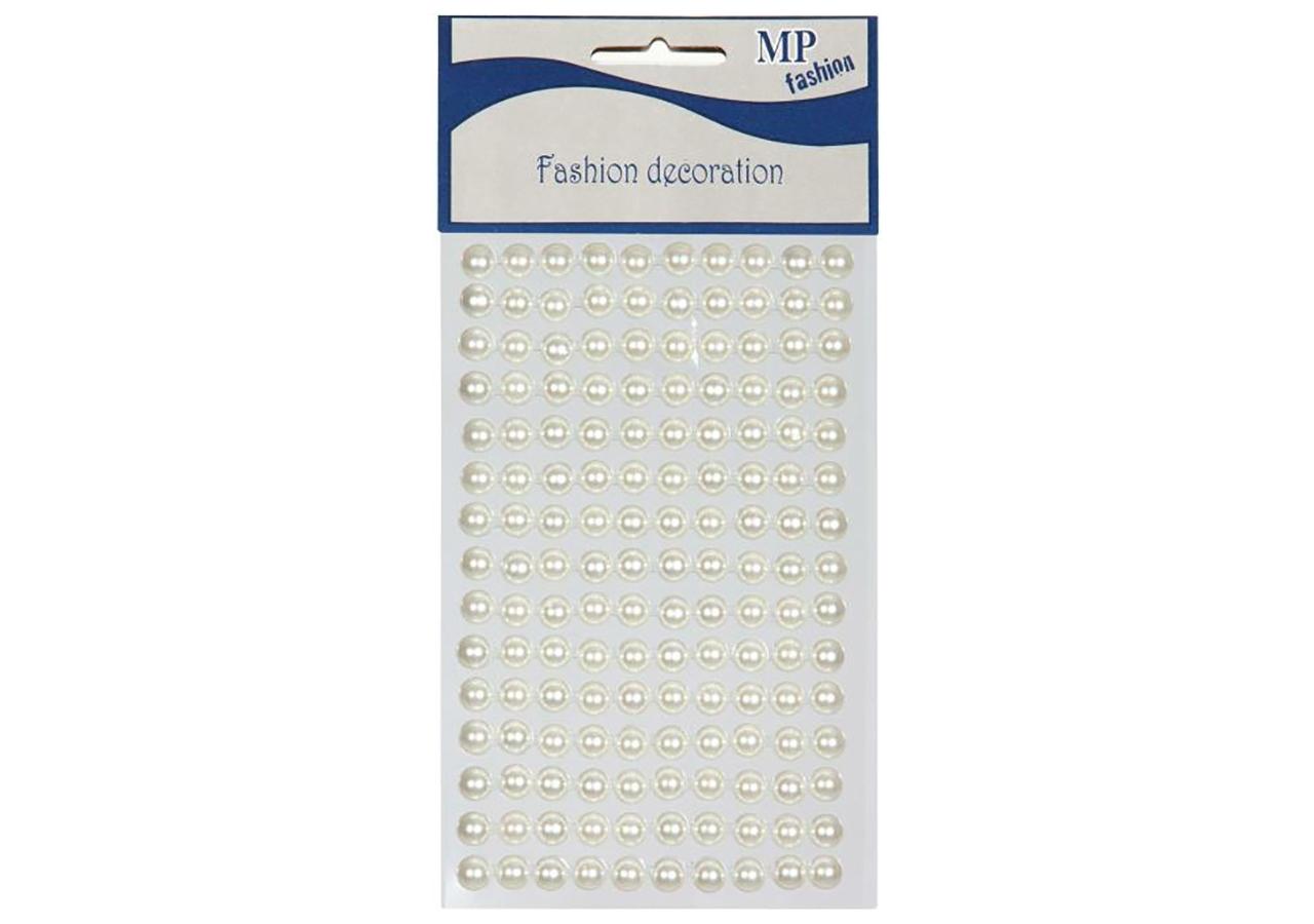 mezze perle adesive in confezione da 150 pezzi