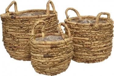 cesto giacinto fatto a mano con manici