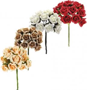 Rose in polifoam in confezione da 36 pezzi
