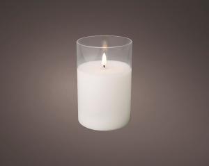 CANDELA LED con vasetto vetro