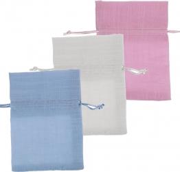 Sacchettino portaconfetti in lino in confezione da 10 pezzi