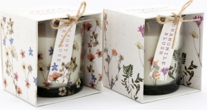Candela con scatola regalo