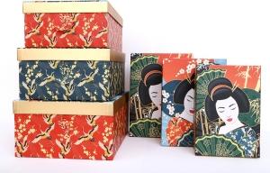 scatole con fantasia geisha