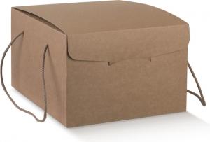 Scatole segreto in cartoncino avana marrone con cordini abbinati per servizi delivery e take away o per regalo ingrosso online