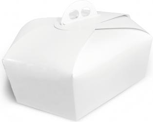 Scatola per colomba bianca in cartoncino reciclato
