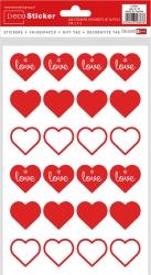 Etichette con cuori love in confezione da 240 pezzi
