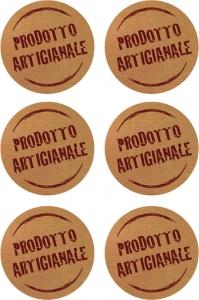 Etichette con scritta prodotto artigianale in confezione da 60 pezzi
