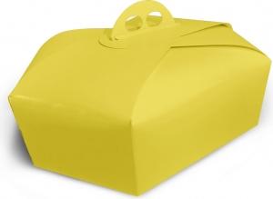 Scatola per colomba gialla effetto lucido