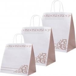 Shopper in carta bianchi con decoro