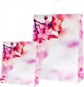 Busta shopper in carta fiori di ciliegio