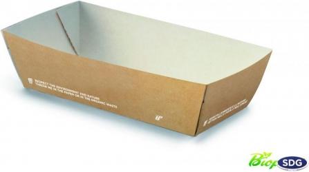 VASCHETTA PORTA ALIMENTI FRITTI in cartoncino compostabile per take away, delivery e fast food - ingrosso vendita online