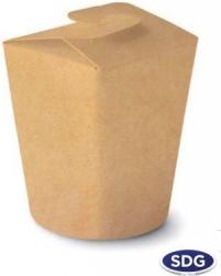 food cup per cibo d'asporto e take away in cartoncino in fibra vergine con alette richiudibili vendita online all'ingrosso