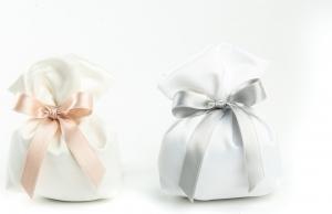 Sacchetto portaconfetti Cubo Ely in confezione da 10 pezzi