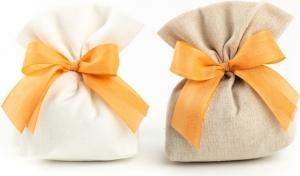 Sacchetto in lino portaconfetti Cubo barcellona in confezione da 10 pezzi