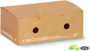 Scatola Porta Crocchette con fori compostabile per contenere fritti e cibi caldi take away e delivery - ingrosso vendita online