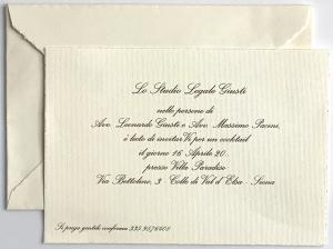 Biglietti avorio regina con busta in confezione da 10 pezzi