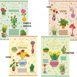 Biglietto compleaanno piante e fiori