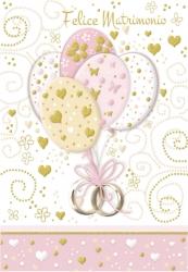 Biglietto matrimonio palloncini