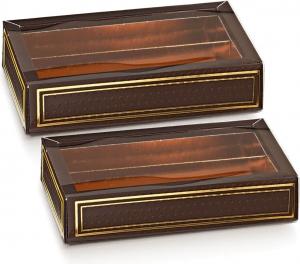 Scatola Porta Cioccolatini con Fascetta Spot Marrone (10 Pezzi)