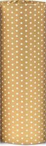 carta da regalo eco oro con pois bianchi in confezione da 25 fogli