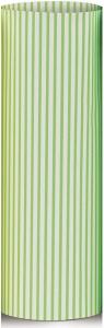 carta da regalo eco con righe verdi in confezione da 25 fogli