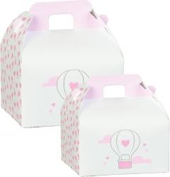 Scatola valigetta balloon rosa