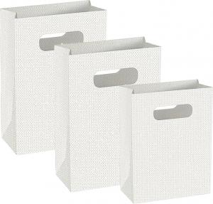 Shopper in cartoncino lino bianco