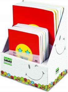 Notes emoticon colorati, piccoli e grandi