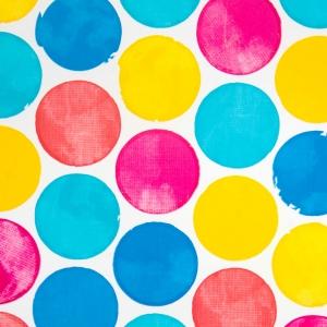 carta velina da regalo con fantasia pois multicolor in confezione da 25 fogli