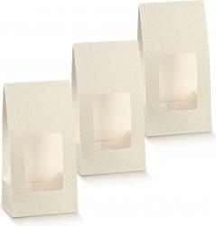 Fascetta in cartoncino pelle bianco