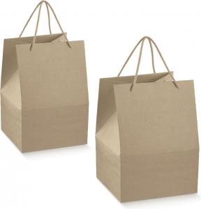 Saccotto avana con cordini scatola per regali, delivery, take away e oggettistica ingrosso b2b online incartare professionisti