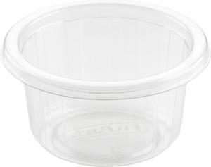 Coppette per condimento 110 ml in confezione da 50 pezzi per salse e monoporzioni d'asporto e delivery incartare ingrosso b2b