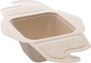contenitore farfalla in polpa biodegradabile in confezione da 150 pezzi per asporto e domicilio - vendita all'ingrosso b2b