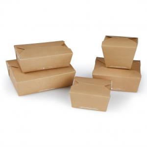 FOOD box in cartoncino avana laminato antiunto per asporto, delivery e take away - vendita online all'ingrosso - gruppo