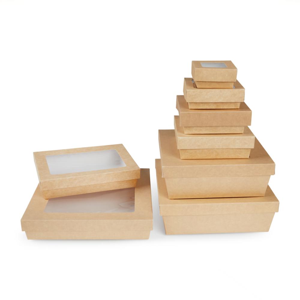 Scatole kray per sushi e dolci con finestra colore avana - ingrosso b2b online vendita per professionisti - gruppo