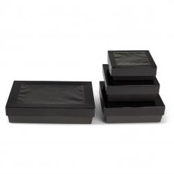 Scatole per dolci e sushi cartone nero microonde e forno per Delivery e Take Away - Ingrosso online partita iva - gruppo