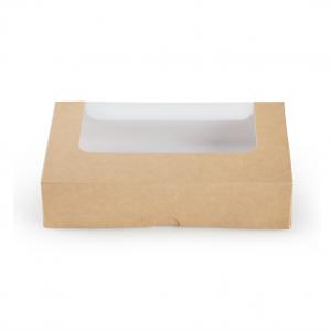 Scatola Porta Toast con Finestra Avana - per delivery, take away e asporto - vendita all'ingrosso b2b online incartare