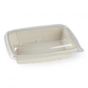 VASCHETTe IN POLPA mono scomparto con coperchio compatibile per consegne delivery e take away - vendita all'ingrosso online