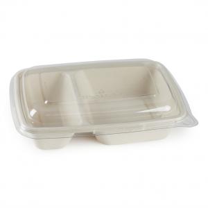 VASCHETTE BIO IN POLPA biscomparto con coperchio compatibile per consegne delivery e take away vendita all'ingrosso online