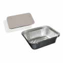 Vaschette Cuki in Alluminio con Coperchio (50 pezzi)