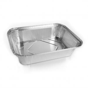 vaschetta in alluminio extra rigida rettangolare per alimenti - ingrosso online b2b incartare