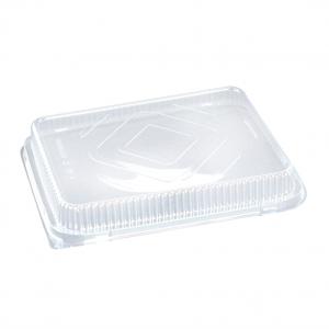 coperchio trasparente per vaschetta in alluminio extra rigida rettangolare per alimenti - ingrosso online b2b incartare