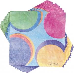 Tovaglioli 3 veli colorati Panarea in confezione da 20 pezzi