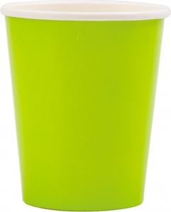 bicchieri in cartoncino verde lime in confezione da 8 pezzi