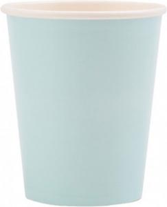 Bicchieri in cartoncino azzurro in confezione da 8 pezzi