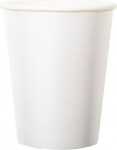 Bicchieri in cartoncino bianco perlato in confezione da 8 pezzi