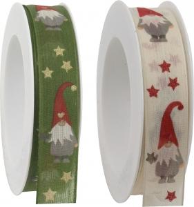 Nastro in tessuto con fantasia Babbo Natale animato - vendita all'ingrosso online