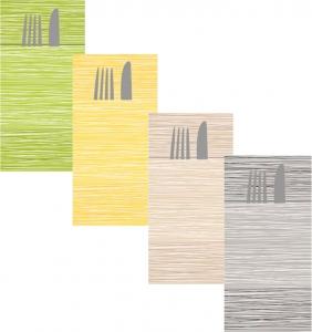 Tovaglioli Portaposate Millerighe Airlaid in Carta Secco (40 pezzi) - Vendita online all'ingrosso b2b - gruppo