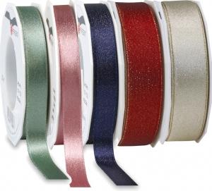 Nastro in raso con glitter, disponibile in diversi colori e altezze -Vendita all'ingrosso e online